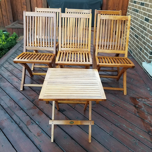 Teak Chairs & table - Lot 4