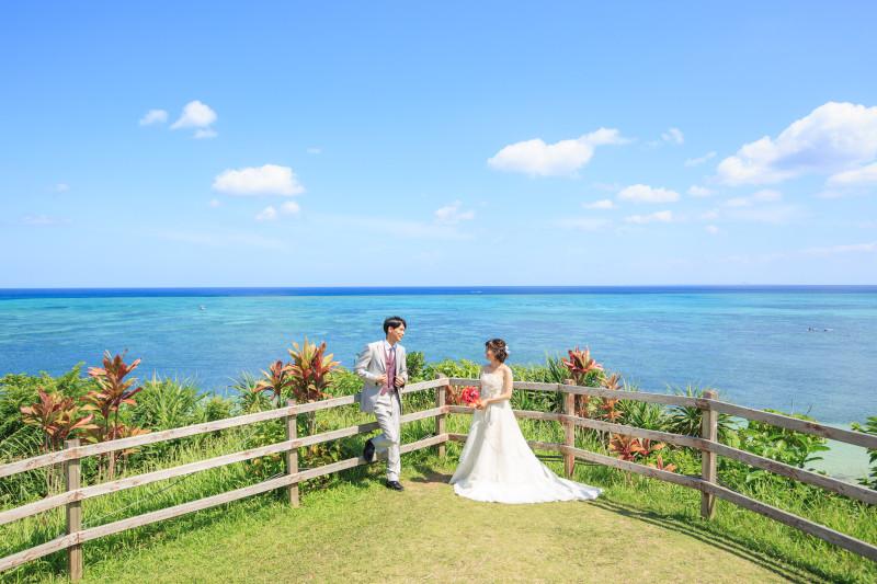 沖縄 フォトウエディング リザンシーパーク ビーチフォト チャペルフォト