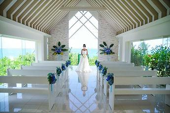 沖縄 京都 フォトウエディング ウェディングフォト ビーチフォト スタジオムーン 結婚写真の前撮り ムーンビーチのチャペルフォト
