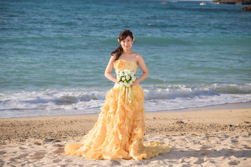 沖縄恩納村 フォトウエディング ビーチフォト&チャペルフォト ドレス追加料金なし