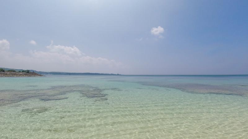 沖縄恩納村 ムーンビーチ フォトウエディング ビーチフォト