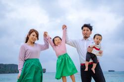 沖縄県 恩納村 家族写真