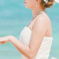 沖縄 恩納村 フォトウエディング ウェディングフォト ビーチフォト 前撮り 美肌スリム加工