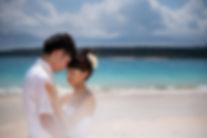 沖縄 宮古島 フォトウエディング ウェディングフォト ビーチフォト 前撮りの結婚写真 前浜ビーチ