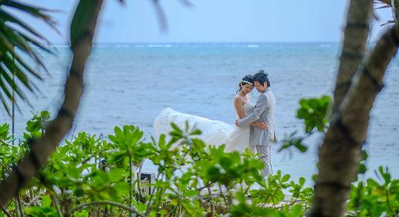 沖縄 恩納村 フォトウエディング リザンシーパーク チャペルフォト ビーチフォト 結婚式 ウェディングフォト