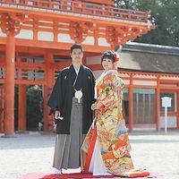京都 下鴨神社 和装 フォトウエディング ウェディングフォト 前撮り 結婚写真