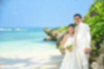沖縄 恩納村 フォトウエディング ムーンビーチのビーチフォト ウェディングフォトのスタジオムーン 結婚写真の前撮り