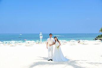 沖縄 京都 フォトウエディング ウェディングフォト ビーチフォト スタジオムーンの結婚写真の前撮り ムーンビーチのチャペルフォト