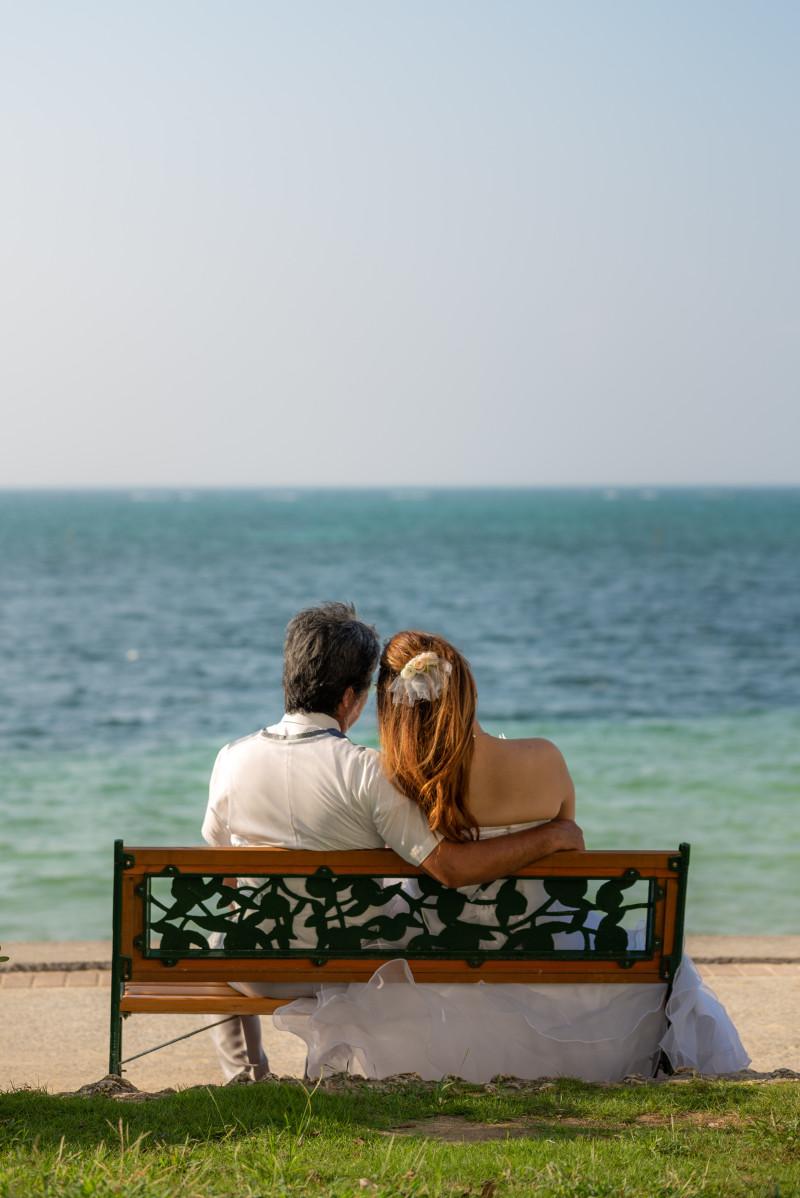 沖縄恩納村 フォトウエディング リザンシーパークのビーチフォト