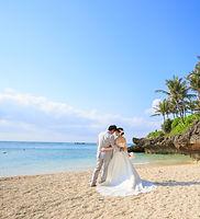 沖縄 フォトウエディング ウェディングフォト ビーチフォト 前撮り 恩納村の結婚写真