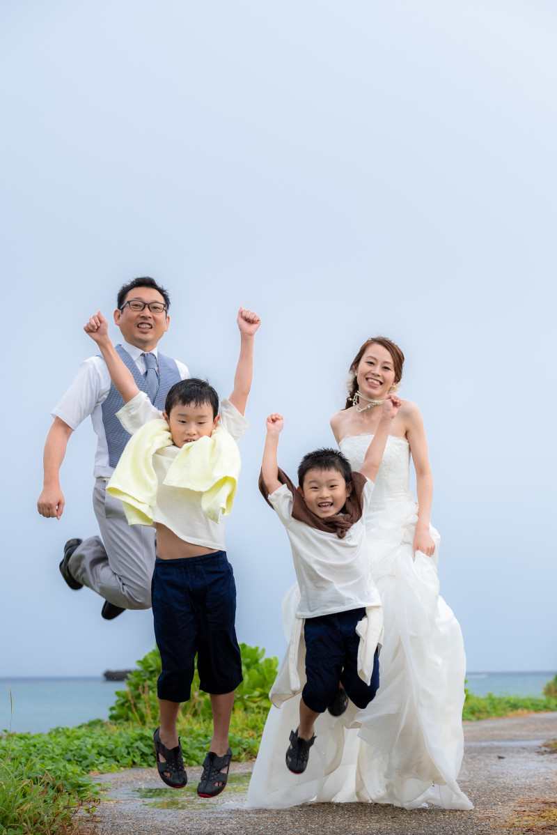 沖縄恩納村 フォトウエディング ビーチフォトの雨天対応
