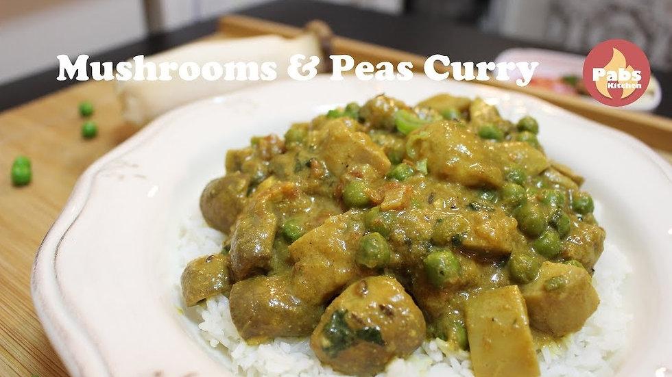 Mushroom & Peas Curry @ Home