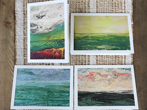 SET OF CARDS - SEASCAPES