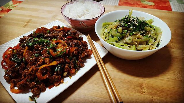 Spicy Quail with basil stir fry