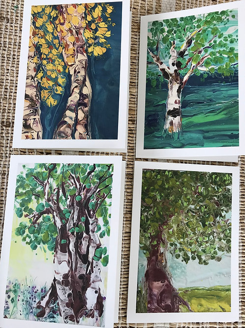 SET OF CARDS - TREE COLLECTION
