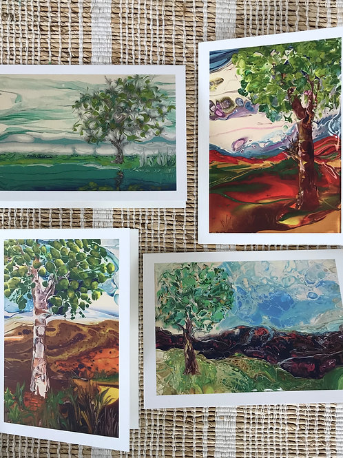 SET OF CARDS - MESA TREES