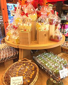 ボージュの焼き菓子の陳列