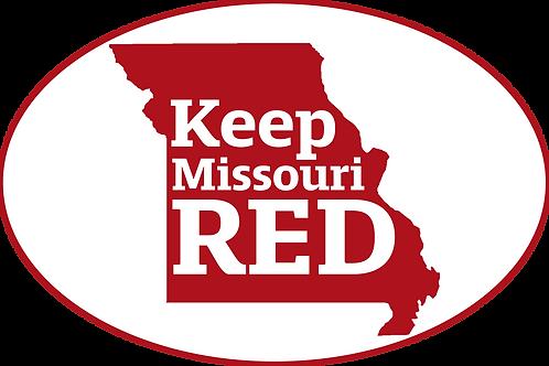 Keep Missouri Red Sticker