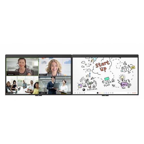 """D7 55"""" Dual Display All-In-One Video Conferencing"""