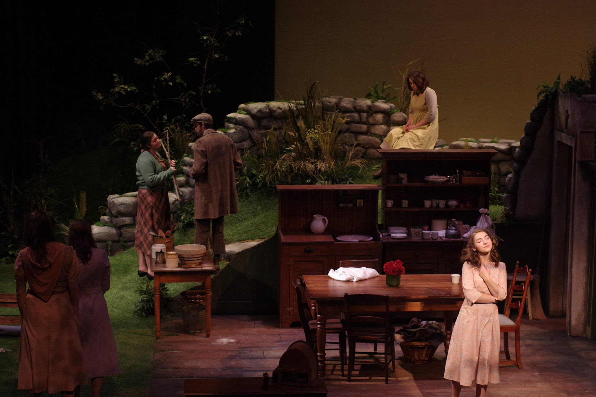 Dancing at Lughnasa Jerome Mirza Theatre  Director: Michael Cotey Set Design: Curtis Trout Costume Design: Susan High Lighting Design: Dave Stoughton Sound Design: Nicholas Valdivia Photography: Pete Guither