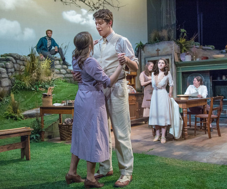 Dancing at Lughnasa Jerome Mirza Theatre  Director: Michael Cotey Set Design: Curtis Trout Costume Design: Susan High Lighting Design: Dave Stoughton Sound Design: Nicholas Valdivia Photography: Mark Featherly