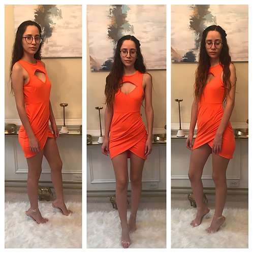 Orange Starburst Dress