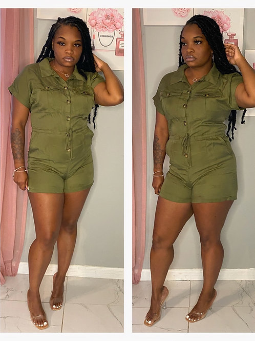 Mimosa Ready Romper Olive