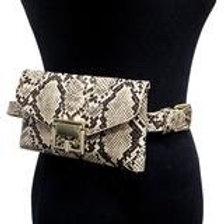 Snake Pattern Clutch Belt