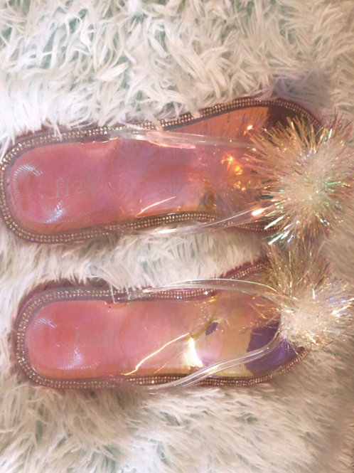 Daisy Jelly Sandals Silver
