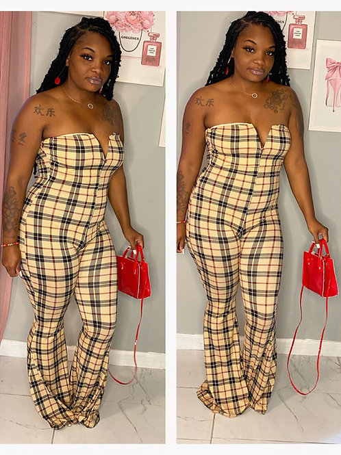 Don't Plaid With Me Jumpsuit