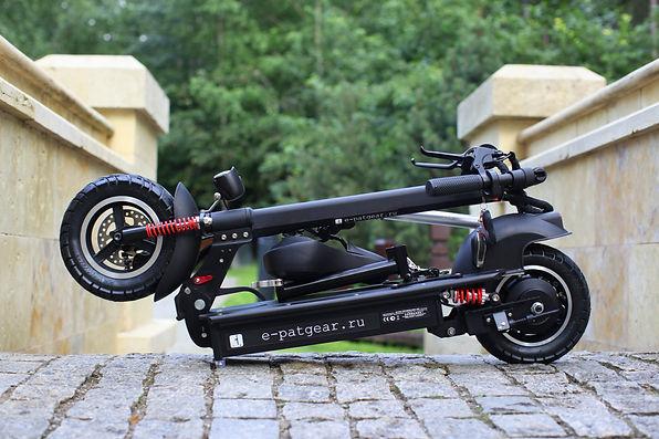 купить новый внедорожный электросамокат с большими колёсами для взрослых в москве