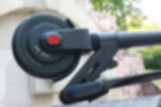Большие колёса карбонового электросамоката jack hot
