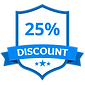 25% Discount Blue