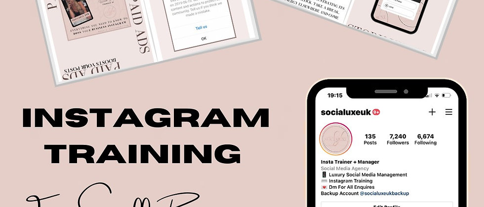 Instagram Training For Small Businesses Ebook