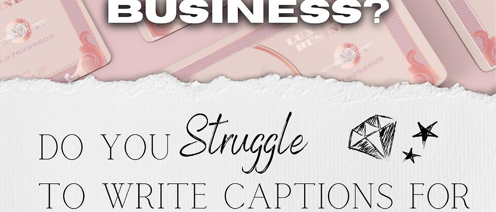 50 Caption Templates for Product Based Businesses