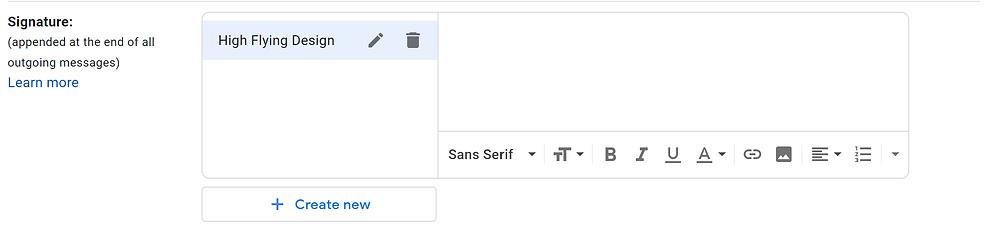 Example gmail signature