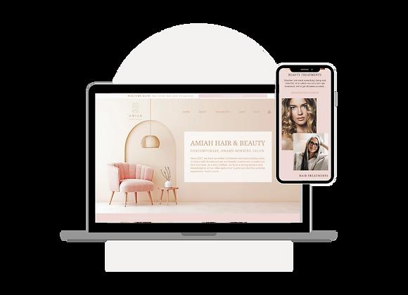 'Amiah' Beauty Salon Website Template