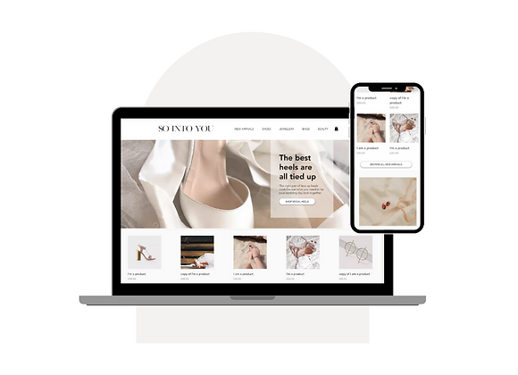 'So Into You' Wix eCommerce Template
