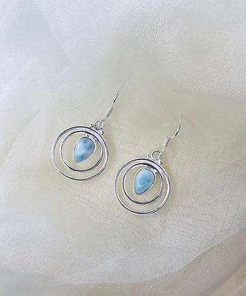 Larimar Swirl Earrings