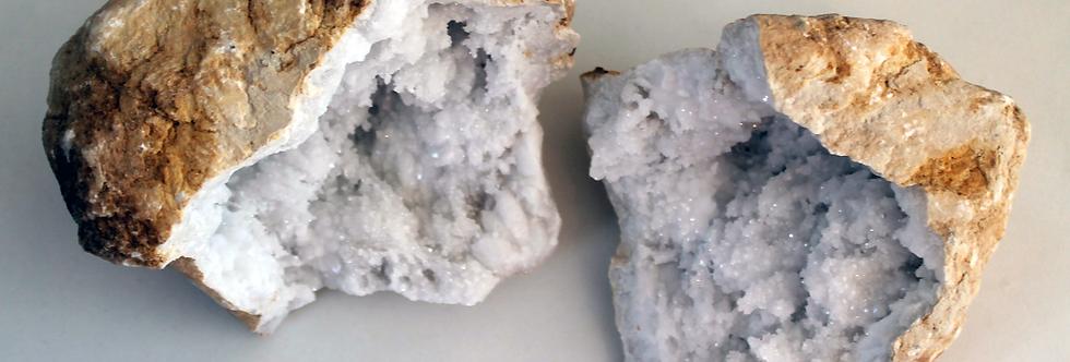 15cm White Quartz Geode