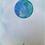 Thumbnail: Set 6 handgemaakte maankaarten met envelop