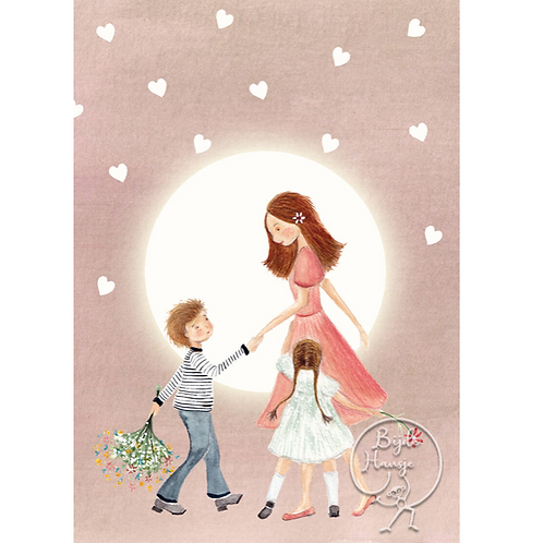 Altaar kaart mama/vrouw/tante/juf