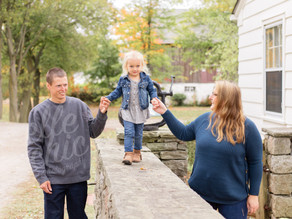Sarah, Joey  + Ev | Fall Family Session