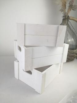 Caisse de bois blanc