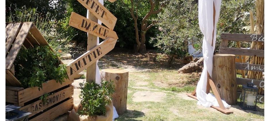 Entrée de jardin pour Anniversaire-Location champetre chic