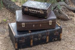 Valise vintage décapée
