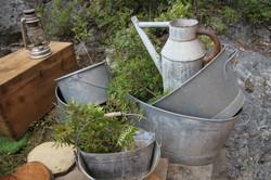 Lot de bassines en zinc