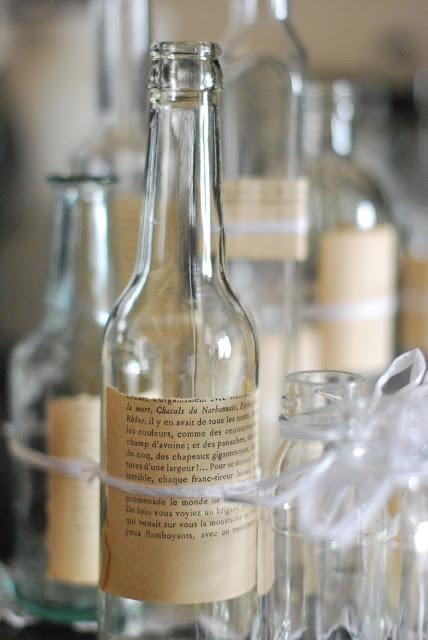 Petites bouteilles + vieilles étiquettes + No de table