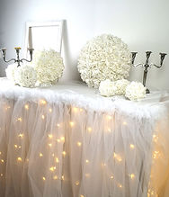 Jupe de table lumineux