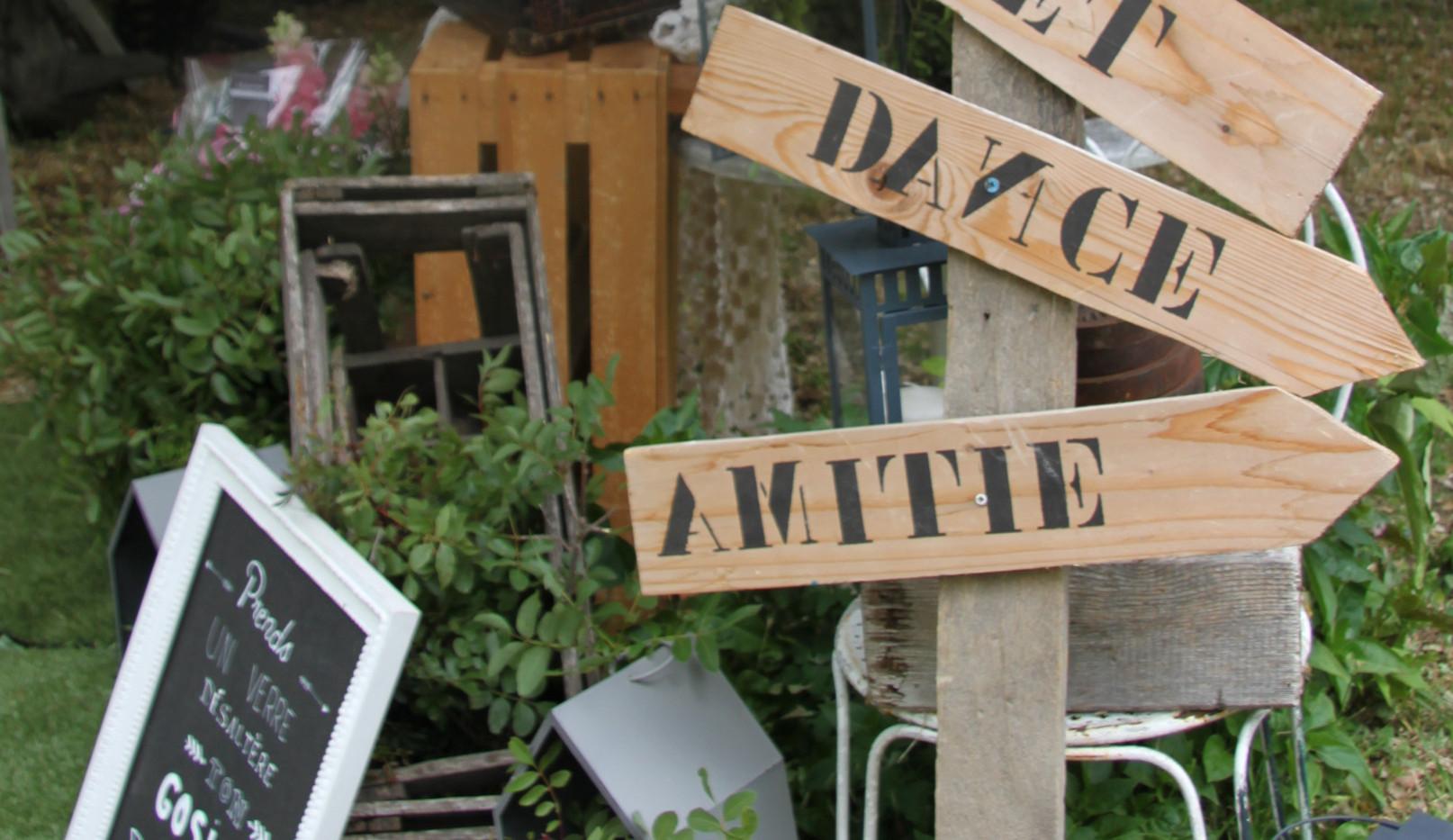 Pancarte bois directionnelle